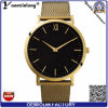 Yxl-062 새로운 디자인 메시 강철 시계 남자 좋은 품질 가죽 매력적인 손목 시계 사업가의 시계