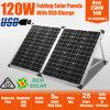 laden faltendes Monosilikon des Sonnenkollektor-120W flexible Solarzelle auf