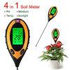 4 em 1 medidor claro da temperatura da umidade do pH do solo de Digitas