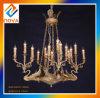 Lustre léger en cristal de nuances de lampe de tissu de cru de modèle neuf pour la Chambre