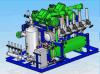 Unidad de condensación del compresor de rosca con el refrigerador de petróleo termal del sifón