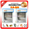 CE Approved Commercial Fully Automatic Egg Incubator con 264 Eggs
