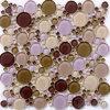 Mosaico Mixed di cristallo del raggruppamento del Brown del penny