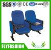 Chaise publique de salle de meubles de couleur bleue avec la garniture d'écriture (OC-154)