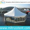 20 de mensen stellen zich Tent van de Markttent van het Glas de Hexagonale voor