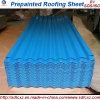 Colorer la feuille en acier galvanisée ridée enduite de toiture de forme d'onde