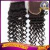 4X4 Curly Virgin 브라질 Human Hair Lace Closure