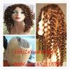 100% 최상 Curlyvirgin 브라질 머리 가득 차있는 레이스 가발