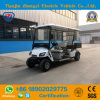 행락지를 위한 4대의 Seaters 소형 건전지에 의하여 운영하는 고전적인 전기 골프 셔틀 손수레