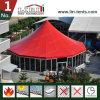 Tenda do pavilhão redondo de alumínio com telhado vermelho para centro de eventos