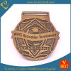 Medaglia d'ottone di calcio del ricordo del premio del metallo su ordinazione