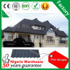 색 지붕 타일 광저우 공장의 핫 건축 자재 패션 돌 코팅 금속 지붕 타일 포진 유형