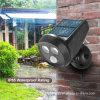 Projecteur actionné solaire de mur lumineux élevé imperméable à l'eau avec PIR