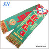Футбол фабрики Stock связанный Jacqard дует шарфы
