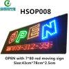 Signe programmable d'intérieur à télécommande de DEL (HSOP008)