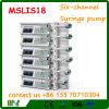 Bomba Mslis18 de la jeringuilla de la infusión de ocho canales