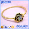 Ultimo braccialetto brillante elegante di figura del fiore dell'oro per le signore 31140