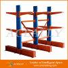 Estante voladizo de la plataforma del tamaño del almacenaje de amontonamiento del metal doble de la pipa