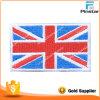 Het douane Gestikte In het groot Flard van de Vlag van het Verenigd Koninkrijk van de Grens