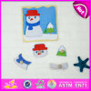 2015年のクリスマスGift Wooden Jigsaw Puzzle Set Toy、Snowman Shape Wooden Puzzle Set Toy、Knobs W14m072のWooden Toy Puzzle Game