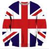Фуфайка печати женщин 3D с флагом Соединенного Королевства (A503)