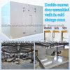 Caminata ensamblada puerta convexa doble en sitio de conservación en cámara frigorífica