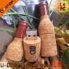 Vara de madeira relativa à promoção do USB do frasco de vinho vermelho dos presentes (YT-8130-02L)