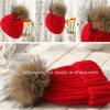 Шлем хорошего качества Handmade связанный вычурой с шерстью POM в цене торговой сделки