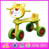 2015 Kids promozionale Wooden Walking Toy, Funny Children Ride su Tricycle Toy, Cat Deisgn Baby Wooden Tricycle Toy W16A001 di Lovely