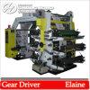 Type 6 machine de pile d'impression flexographique non tissée de tissu de couleur