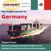 Logística de confiança com o melhor frete de mar de China a Alemanha