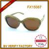 100% handgemachte Bambussonnenbrillen mit Brown-Objektiv Fx15087