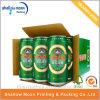 Caja de papel de empaquetado modificada para requisitos particulares de la cerveza de la impresión del papel acanalado (QYCI15203)