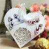 ハート形レーザーの切口の結婚式キャンデーの包装ボックス