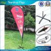 Bandeira resistente do Teardrop da praia do vento econômico com Pólo e base (L-NF04F06049)