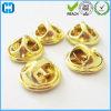 Le insegne uniformi del distintivo di Pin della farfalla dell'oro del metallo d'ottone della frizione innestano le parti posteriori