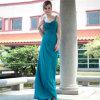 Pleat 2015 способов отбортовывая платье вечера женщин длиннее