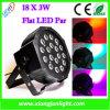 lumière de PAIR de la puissance élevée RVB de lumière d'étape de 18X3 W LED