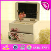 2016 Brand New Wooden Jewellery Box, Mirror Jewellery Box, Musical Jewellery Wooden Box W09e008A