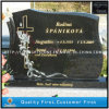 Polished pieno Shanxi Black Granite Monument per il cimitero