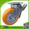 産業PUの足車の車輪をロックする6inch旋回装置