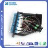 12 base LC al cassette de fibra óptica del rectángulo terminal de MPO