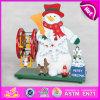 2015 коробка нот рождества снеговика музыкальная, коробка нот рождества детей деревянная, самая лучшая деревянная игрушка нот для подарка W07b006b рождества