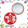 O círculo liso pequeno continua um espelho de mão cosmético lateral da composição