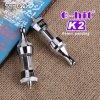 Хлопок Vape нагрюя двойную катушку G-Ударил стеклянную сигаретную бумага завальцовки атомизатора масла Refill трубы K2