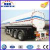 3 axes 50000 litres Acier au carbone Diesel / Essence / Crode Oil / Liquid Chemical Tank Trailer avec 4 silo
