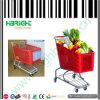 Nordamerikanischer Art-Supermarkt-PlastikEinkaufswagen-Laufkatze