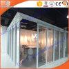 Двойная стеклянная алюминиевая сползая карманная дверь для комнаты