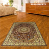 persa Rugs de 6X9ft Golden Flowerd Handmade Silk Rugs