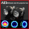 Самое лучшее цена! Фара репроектора H1 светильников репроектора AES предельная миниая, предельный миниый объектив H1